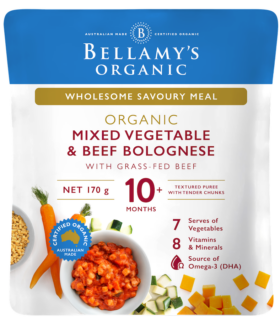 Beef Bolognese for babies